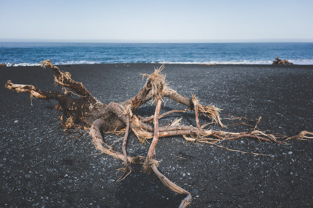 Black Sand beach at Shelter Cove