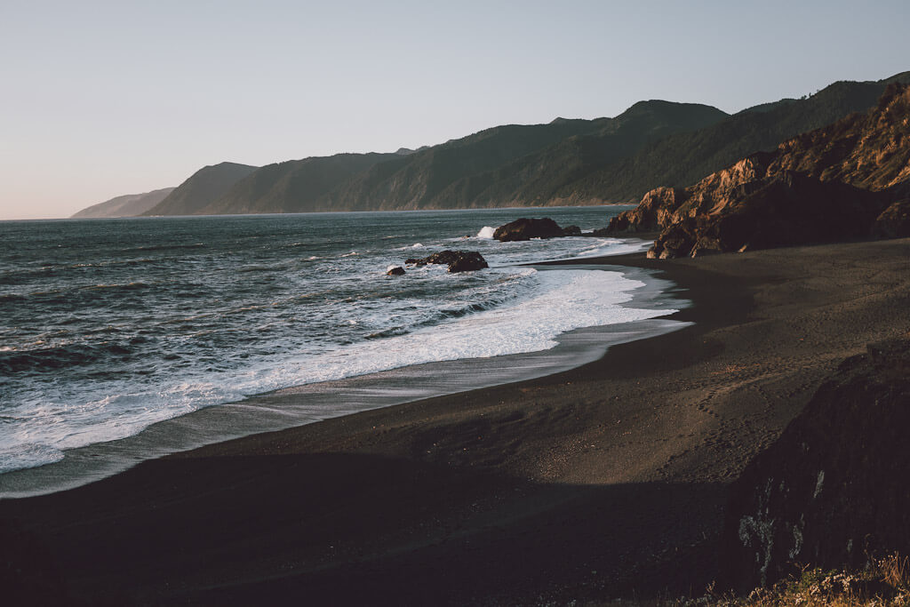 Black Sand Beach of Shelter Cove California