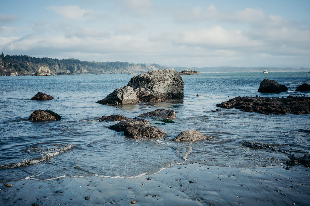 Harbor beach at Trinidad, Humboldt County