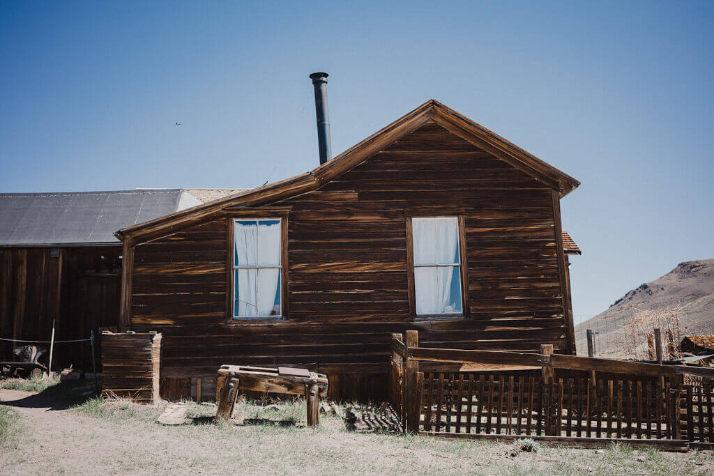 Buildings and remnants of Bodie State Park in California