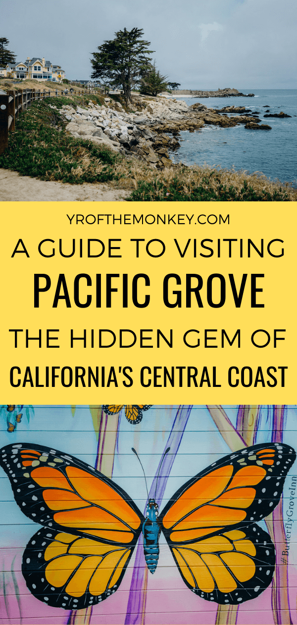 Looking for a weekend getaway to Pacific Grove, California? Here's a guide to 8 amazing things to do for the perfect Pacific Grove itinerary. Pin this to your California or USA board now! #California #Monterey #Montereypeninsula #centralcoast #pacificgrove #USA #America #californiacoast