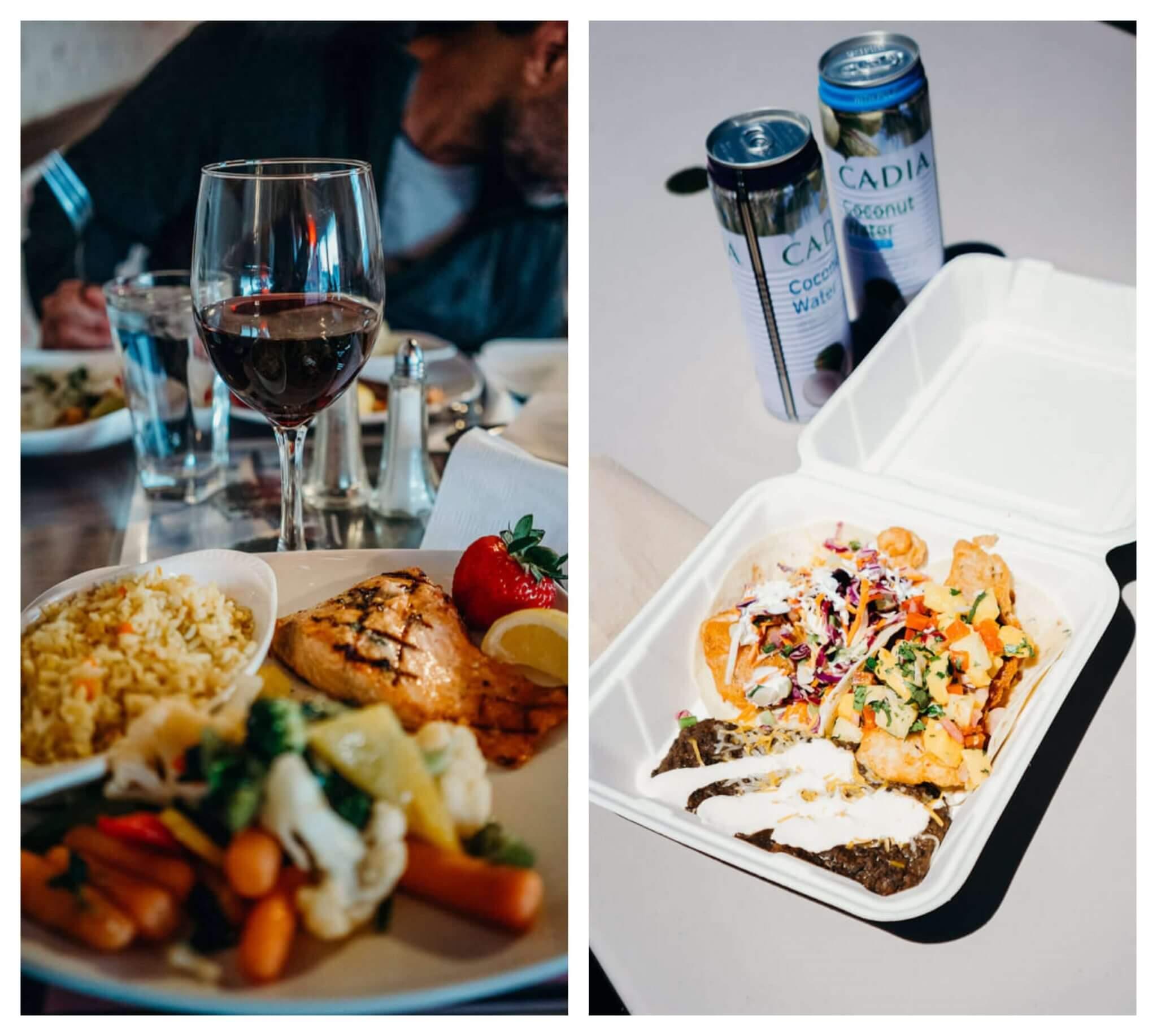 June lake restaurants, Whoa Nelly deli, Bridgeport Inn dinner