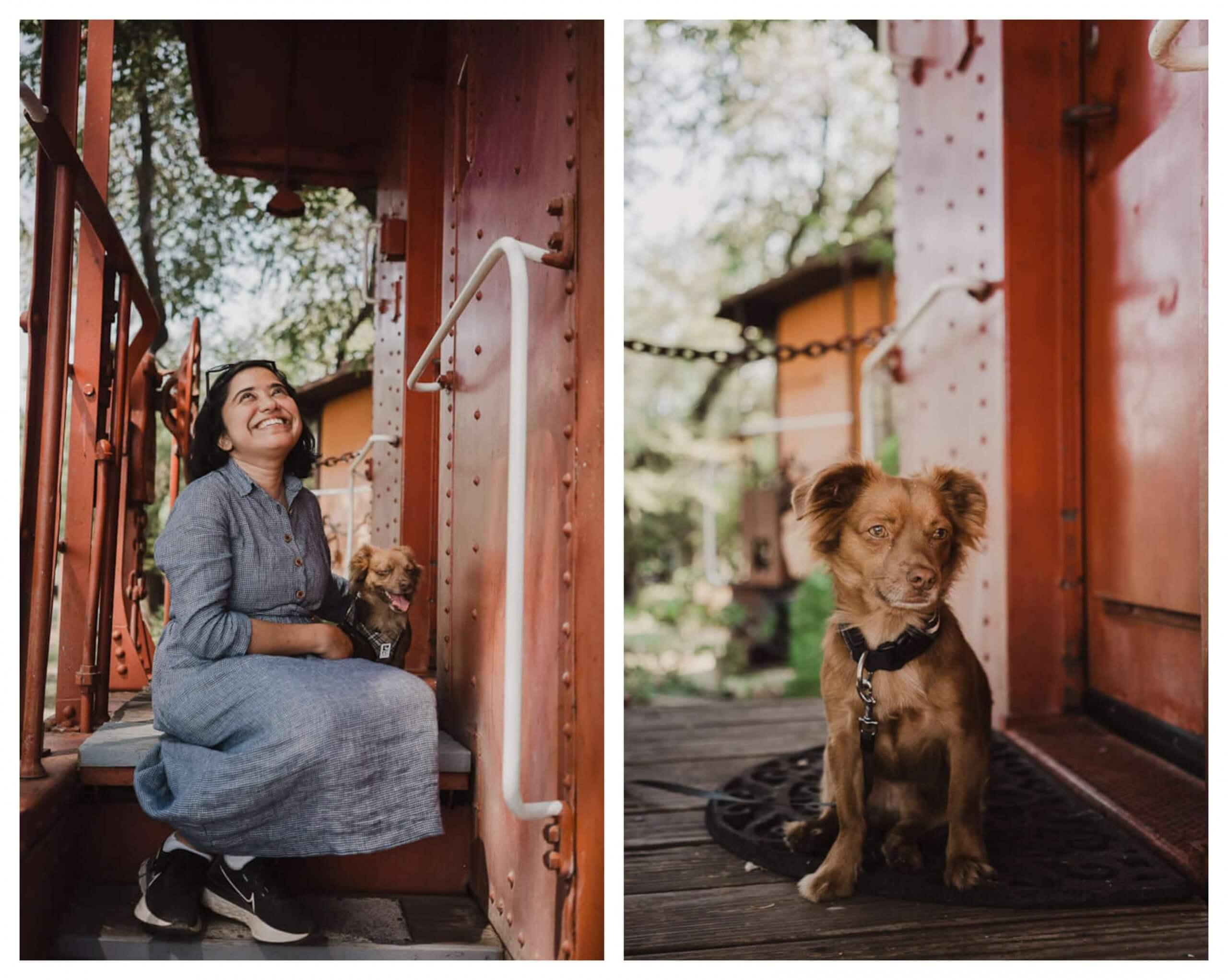Dog friendly B&B Featherbed railroad Caboose